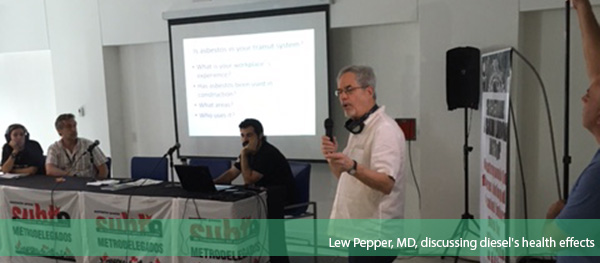 Lew Pepper, MD, discussing diesel's health effects
